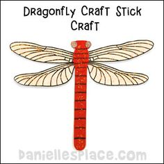 Dragonfly Craft Stick Craft for Kids from www.daniellesplace.com