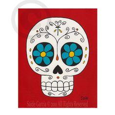 Arte de Saide Garcia  tamaño: Original 8 X 10 alta calidad impresión  Marca de agua no se mostrará en la impresión.    Día de los muertos es un mexicano
