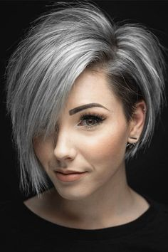 Are you looking for the most flattering short grey hair color ideas and styles? - haarschnitte Are you looking for the most flattering short grey hair color ideas and styles? Short Hair Cuts For Women, Short Hairstyles For Women, Hairstyles Haircuts, Pixie Haircuts, Hairstyle Short, Grey Hair Styles For Women, Short Hair For Round Face Plus Size, Medium Hairstyles, Everyday Hairstyles
