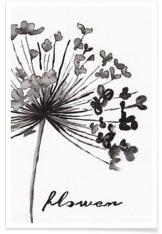 Flower Illustration for wall decor. Flower Art Print by Nathalie Köslin now on Juniqe.com   Art. Everywhere.