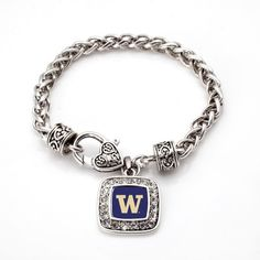 The University of Washington Classic Braided Bracelet - a sterling silver bracelet