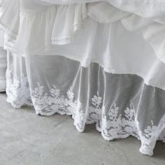 Shabby Chic California King Lace Bedskirt from Rachel Ashwell $275.00