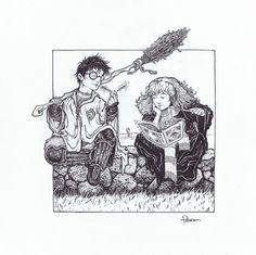 David Petersen Harry Potter Sketch Comic Art