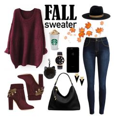 """""""Fall sweater #1"""" by leafashionpro ❤ liked on Polyvore featuring Aquazzura, Michael Kors, Janessa Leone and Yves Saint Laurent"""
