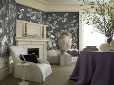 10 Swoon-Worthy Chinoiserie Wallpapers Paul Montgomery Studio's Kew Gardens hand-crafted wallpaper is a show stopper.