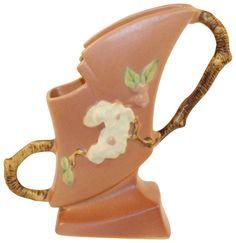 Roseville Pottery Apple Blossom Pink Vase 373-7