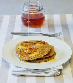 THERMOMIX: Panqueca integral com banana e mel