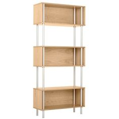 Blu Dot Chicago Bookcase - Boxes held on pipes: rustic or modern, depending on how you do it.