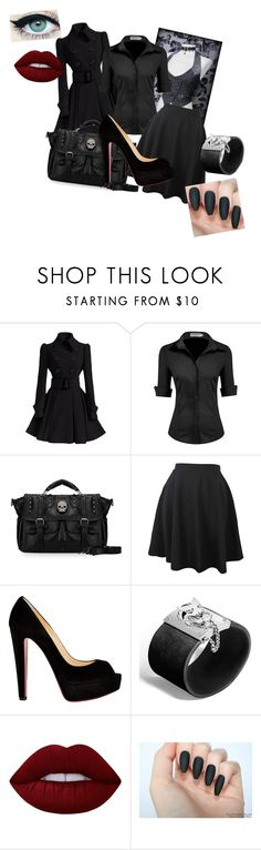 """Corporate Goth"" by gothic-trash ❤ liked on Polyvore featuring Christian Louboutin, John Hardy and Lime Crime"