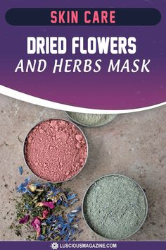 Because of their ability to draw out dirt and deep-clean pores, cosmetic clays make terrific face masks. Try combining your favorite clay with ground flowers and herbs for an added boost of healing, soothing or Dried Lavender Flowers, Dried Rose Petals, Deep Clean Pores, Homemade Facial Mask, How To Dry Sage, Best Skincare Products, Infused Oils, Sensitive Skin Care, Face Oil
