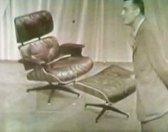 The Eames Lounge Chair TV Debut In 1956 Eames Lounge Stühle, Charles U0026 Ray  Eames