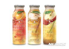 이마트, PL 상품으로 중소기업 '상생'···'메이드인 코리아 프로젝트' 1호 탄생 Juice Branding, Juice Packaging, Beverage Packaging, Label Design, Packaging Design, Food Png, Japanese Drinks, Apple Tea, Fruit Drinks