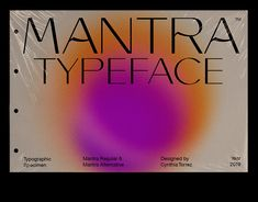 Mantra is a Sans Serif and experimental typeface. Is perfect for branding (Identity), logotype, headline text, and captions. Font Design, Web Design, Type Design, Layout Design, Freelance Graphic Design, Graphic Design Posters, Graphic Design Typography, Typography Inspiration, Graphic Design Inspiration