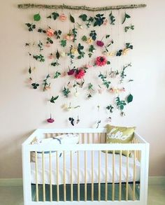 "782 Likes, 27 Comments - @babyletto on Instagram: ""SO much for this magical #DIY floral nursery! • #babyletto Lolly crib • designed by…"""