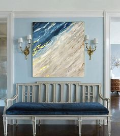 Abstract Sea Painting Oil Painting Original Painting sea fantasy If you want to make a print of this picture, write me the size. If you need to have the picture stretched out on a wooden frame this will be an additional style. DETAILS * Name: Abstract Sea fantasy 2017 * Painter: