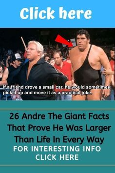 Whether he was picking up cars or drinking 156 beers in one sitting, these Andre the Giant facts prove that he was larger than life in every imaginable way. 10 Day Diet Plan, Weight Loss Diet Plan, Best Weight Loss, Lose Weight, Strict Parents, Andre The Giant, Practical Jokes, Gain Muscle, Super Funny