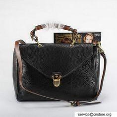 imitazione Mulberry Polly push Blocco Flap Tote Bag M8289 Nero Trend - borse di replica Cina UK