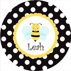 Personalized Melamine Plate and Bowl Set Bumble Bee by rrpage, $40.00