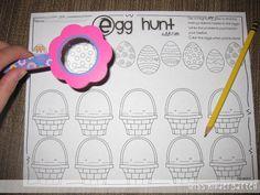 Miss Kindergarten: Going on an Egg Hunt {Math Style!}