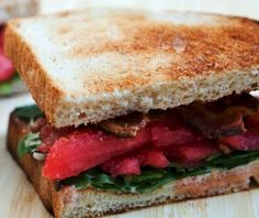 Try a bacon, lettuce and watermelon sandwich for a refreshing change.