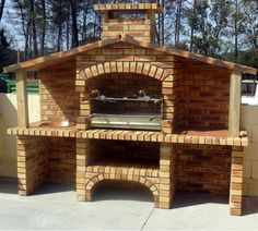 Rustic Outdoor Fireplaces, Backyard Fireplace, Portable Barbecue, Barbecue Grill, Stone Bbq, Barbecue Garden, Outdoor Grill Station, Brick Bbq, Patio Grill