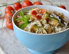 insalata di riso,insalata di riso con verdure,le ricette di tina,primi estivi,
