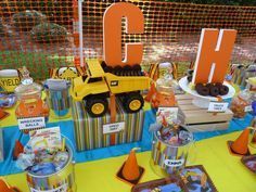 Hostess with the Mostess® - Construction Party Construction Birthday Parties, Construction Theme, I Party, Party Ideas, Gift Ideas, Digger Birthday, A Little Party, Birthday Party Themes, Birthday Ideas