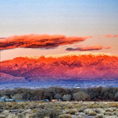 Beautiful sky over the Sandia Mountains in New Mexico