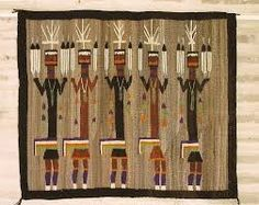 United States:Navajo This is hung on the wall or can be placed inside a picture frame . The type of balance is radial.