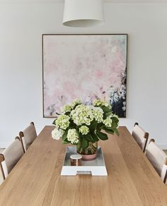 gorgeous print in dining room