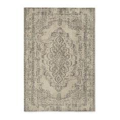 Distressed Arabesque Wool Rug - Neutral   west elm