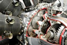 vintage aircraft engine by nelsonart. precision mechanics inside a vintage aircraft engine Bike Engine, Jet Engine, Diesel Engine, Aircraft Parts, Aircraft Engine, Vintage Diy, Vintage Cars, Vintage Ideas, Vintage Stuff