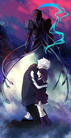 Fate Zero - Kariya Matou,  Sakura Matou, and Berserker