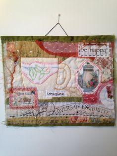 Mini art quilts, art quilt, fiber art, mini quilt, collage, textile art, quilt, fabric assembly, embroidery, vintage fabric, fabric art