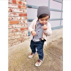 Cute casual baby-boy outfit.
