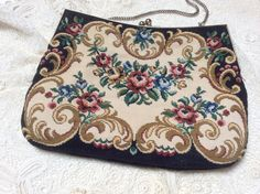 Vintage Tapestry Evening Bag Rose Swags with by ProctorCreations