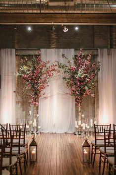 dusty rose wedding rustic arch with trees love me do photography
