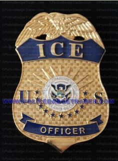 ICE Officer badge. Available from www.policebadgetrader.com