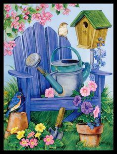 Jane Maday BLUEBIRD BIRD Birthday Greeting Card | eBay