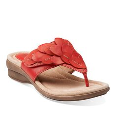 This Coral Reid Ricki Leather Sandal by Clarks is perfect! #zulilyfinds