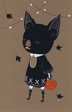 Awkward Bat Child by Amy Earles  Currently available in my shop.