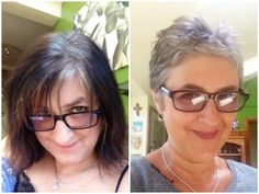 Liz - 19 weeks later, looking fresh and stylish.