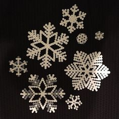 Snowflakes hama beads by hildevestbo