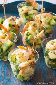 Shrimp Salad Recipes, Shrimp Dishes, Fish Recipes, Seafood Recipes, Cooking Recipes, Healthy Recipes, Seafood Salad, Steak Recipes, Clean Eating Snacks