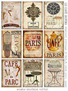 Bistro de PARIS Instant Download Digital por StudioSouthernValley