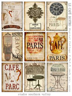Bistro de PARIS Instant Download Digital por StudioSouthernValley