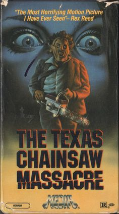 Texas Chainsaw Massacre VHS box The other greatest film of all time.