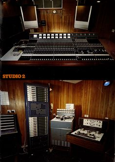 Neve console and tape machines in the control room at Decca Studio 2.