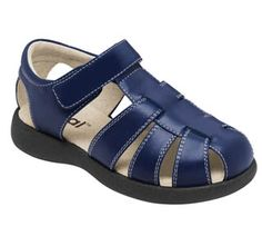 See Kai Run Dillon Navy Boys Sandal from seekairun.com - cool baby shoes, toddler shoes, kids shoes and baby booties.
