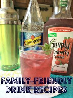THIRSTY? A bunch of family friendly (no alcohol) drink recipes! Pinning for a future party. GREAT PIN!!